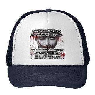 Weekday Sales Rep, Weekend Zombie Slayer. Mesh Hats
