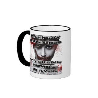 Weekday Sales Rep, Weekend Zombie Slayer. Coffee Mugs