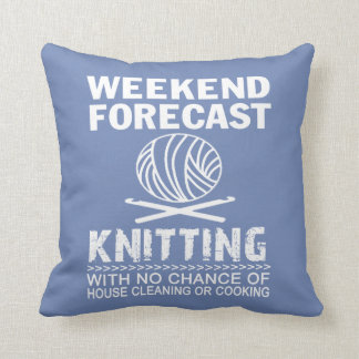 WEEKEND FORECAST KNITTING CUSHION