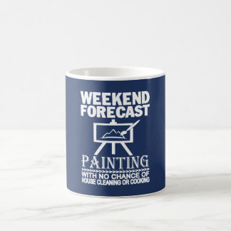 WEEKEND FORECAST PAINTING COFFEE MUG