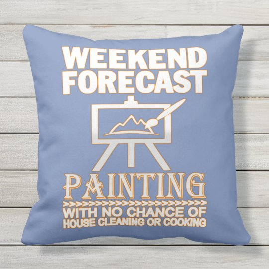 WEEKEND FORECAST PAINTING OUTDOOR CUSHION