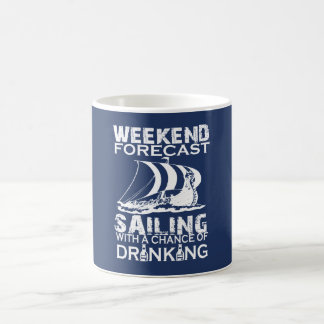 WEEKEND FORECAST SAILING COFFEE MUG