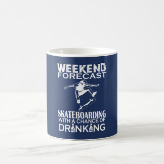 WEEKEND FORECAST SKATEBOARDING COFFEE MUG