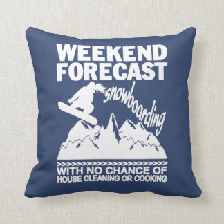 WEEKEND FORECAST SNOWBOARDING CUSHION