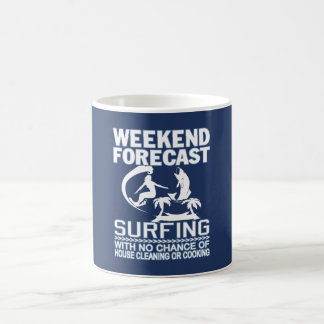 WEEKEND FORECAST SURFING COFFEE MUG