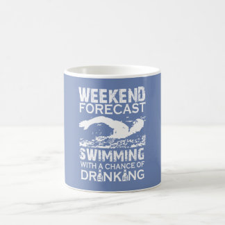 WEEKEND FORECAST SWIMMING COFFEE MUG