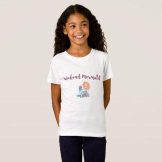 Weekend Mermaid Seashell Watercolor Graphic Dk T-Shirt