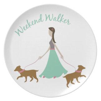 Weekend Walker Party Plate