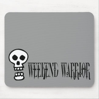 Weekend Warrior Skull Mousepad