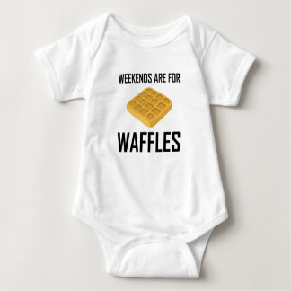 Weekends Are For Waffles Baby Bodysuit