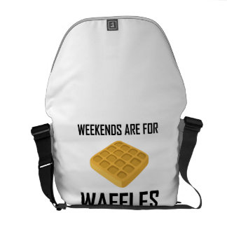 Weekends Are For Waffles Courier Bag