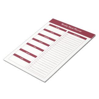Weekly Meal Planner - Wine Notepad