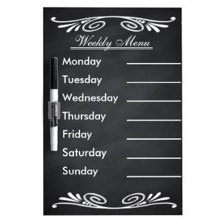 Weekly Menu Blackboard for Kitchen