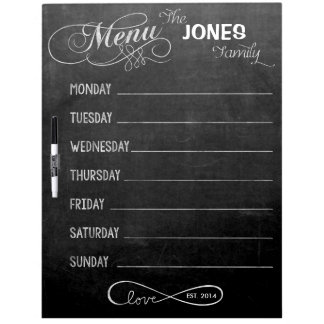Weekly Menu Blackboard for Kitchen (Dry Erase)
