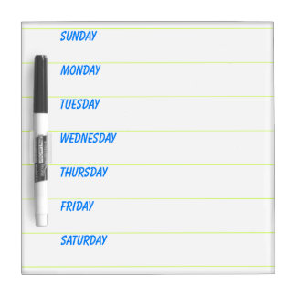 Weekly Planner Dry Erase Boards