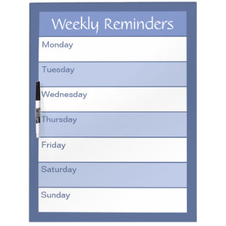 Weekly Reminders - Simply Organized - Nautical Dry Erase Board