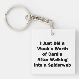 Week's Worth of Cardio Key Ring