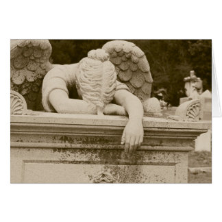 Weeping Angel in Sepia Sympathy Card