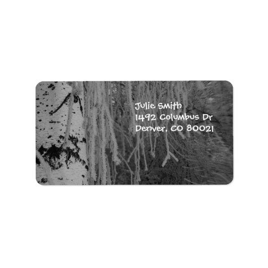 Weeping Birch in Winter Address Label