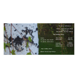 Weeping Birch Wedding Program Custom Rack Cards