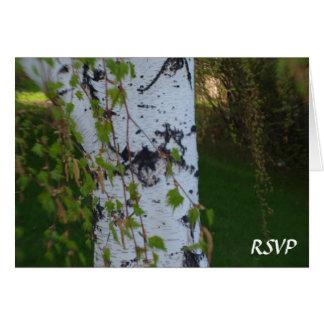 Weeping Birch Wedding RSVP Card