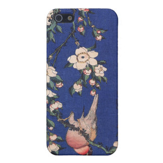 Weeping Cherry and Bullfinch, Hokusai iPhone 5 Case