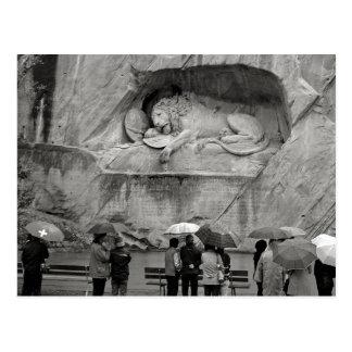 Weeping Lion Postcard