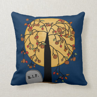 Weeping Tree in a Cemetery Throw Pillow