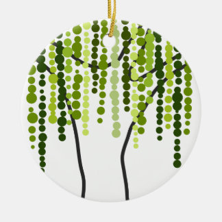 weeping willow ceramic ornament