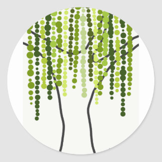 weeping willow classic round sticker