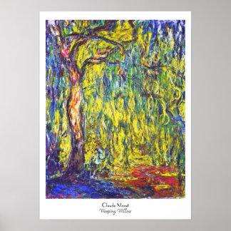 Weeping Willow Claude Monet Poster