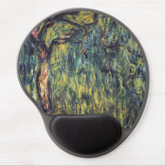 Weeping Willow II by Monet, Vintage Impressionism Gel Mouse Mats