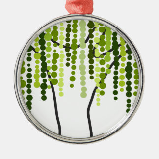 weeping willow metal ornament