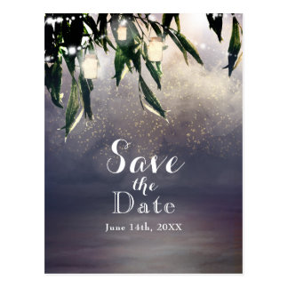 Weeping Willow Tree & Mason Jar Save the Date Postcard