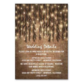 Weeping Willow Tree Vintage Wedding Insert Cards