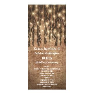 Weeping Willow Tree Vintage Wedding Programs Rack Card