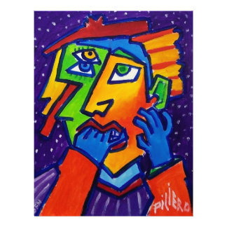 Weeping Woman D 1 by Piliero 21.5 Cm X 28 Cm Flyer