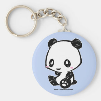 Weetle Panda Basic Round Button Key Ring