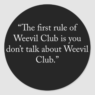 weevilclub classic round sticker