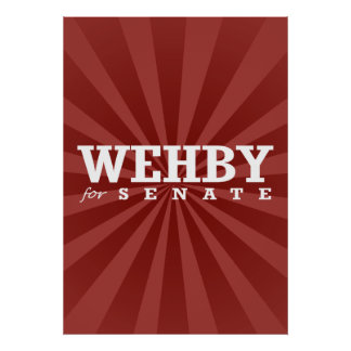 WEHBY FOR SENATE 2014 POSTERS