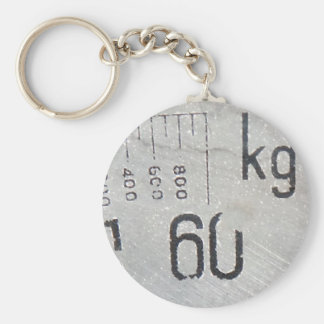 weight 60 kg basic round button key ring