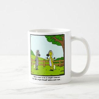Weight Conscious: Horse cartoon Coffee Mug