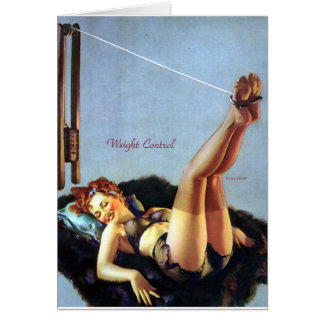 Weight Control Pin Up Card