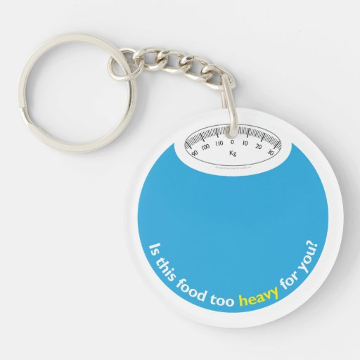 Weight & Health Conscious Round Acrylic Key Chain