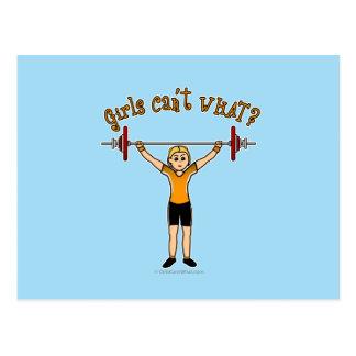 Weight Lifter (Blonde) Postcard