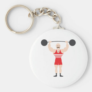 Weight Lifter Key Ring