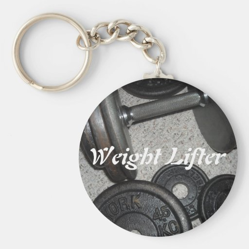 Weight Lifter Key Chains