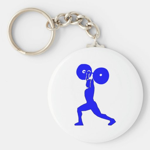Weight lifter more weightlifter keychain