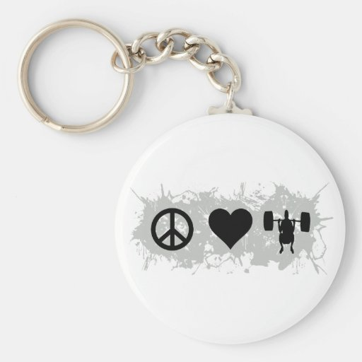 Weight lifting 2 keychains