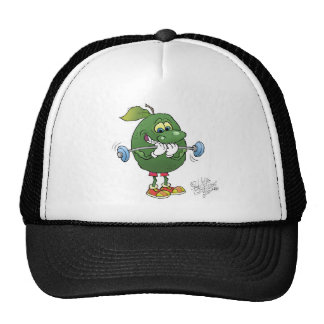 Weight lifting Avocado, on a hat. Cap